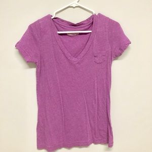 purple boyfriend tee v neck